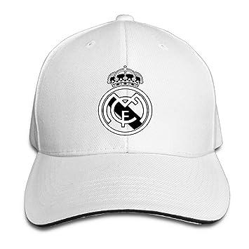 36f092a7cacb9 hittings Real Madrid C.F. Logo Football Club Adjustable Sandwich Gorra de  béisbol White  Amazon.es  Deportes y aire libre