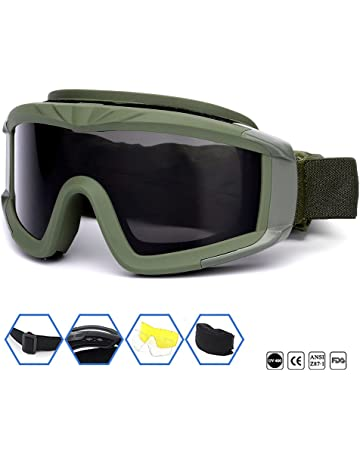bf25aa33cba Outdoor Sports Military Airsoft Tactical Goggles with 3 Interchangable Lens  Impact resistance Hunting Eyewear