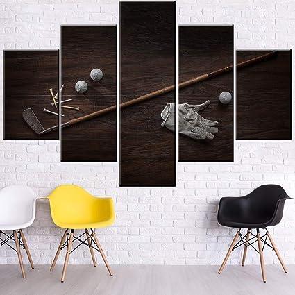 Amazon Com Mookou Canvas Art Wall Decor Golf Sport Paintings For