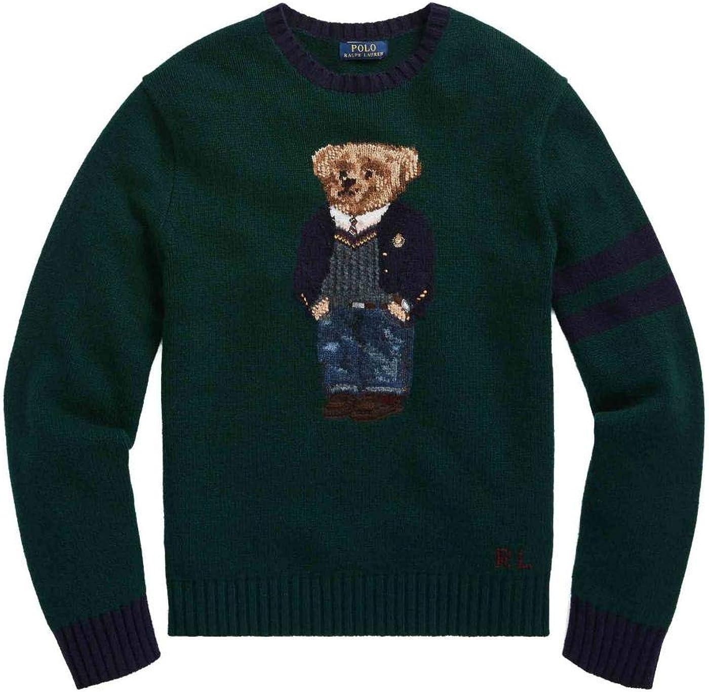 Jersey Ralph Lauren Preppy Polo Bear Verde Hombre: Amazon.es: Ropa ...
