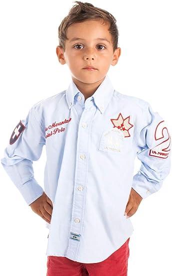 La Martina - Camisa - Manga Larga - para niño Azul Claro 12 años: Amazon.es: Ropa y accesorios