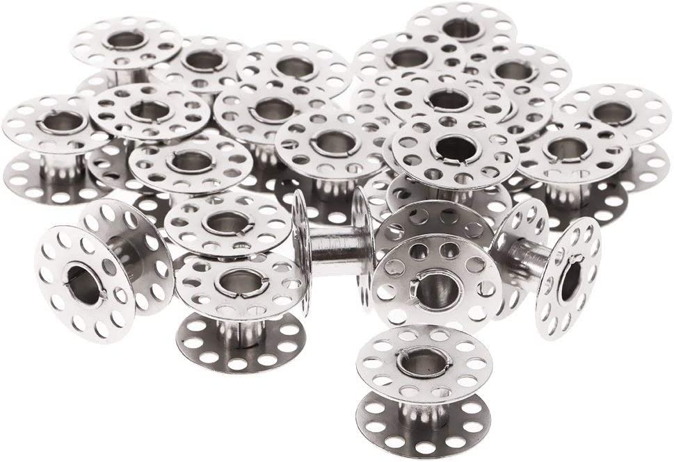 Tenlacum 25 mm Universal Stahlspulen Metallspulen mit transparenter Tasche f/ür N/ähmaschinen-Werkzeuge 25 St/ück