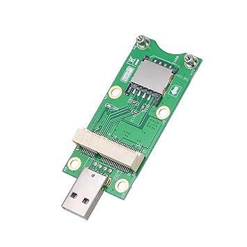 Grborn Mini PCI-E a USB con Tarjeta SIM Tarjeta adaptadora ...