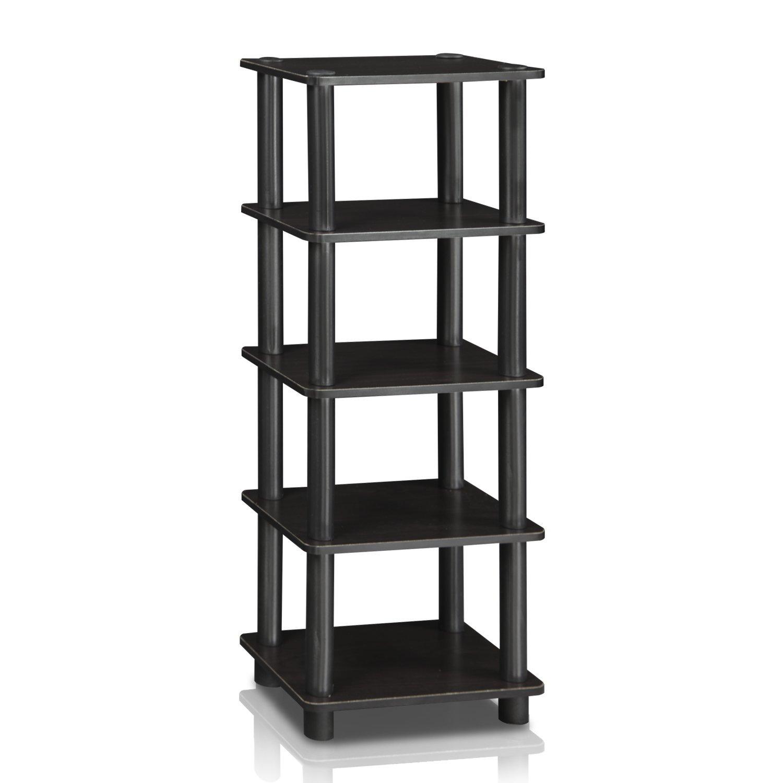 Furinno LACi 4-Bins System Rack, 11.3(W) x 28.8(H) Inch, Espresso/Black by Furinno (Image #3)