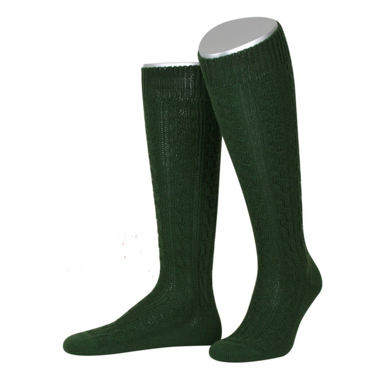 Lusana Herren Trachten-Mode Kniestrümpfe zur Lederhose in Dunkelgrün traditionell Größe:42/43 Farbe:Dunkelgrün 899-844-690
