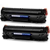 2-Pack Office World Replacement Canon 128 Black Toner Cartridge for Canon ImageClass and HP LaserJet Printers