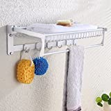 HOMEE Double Layer Shelf for Bathroom Towel Rack