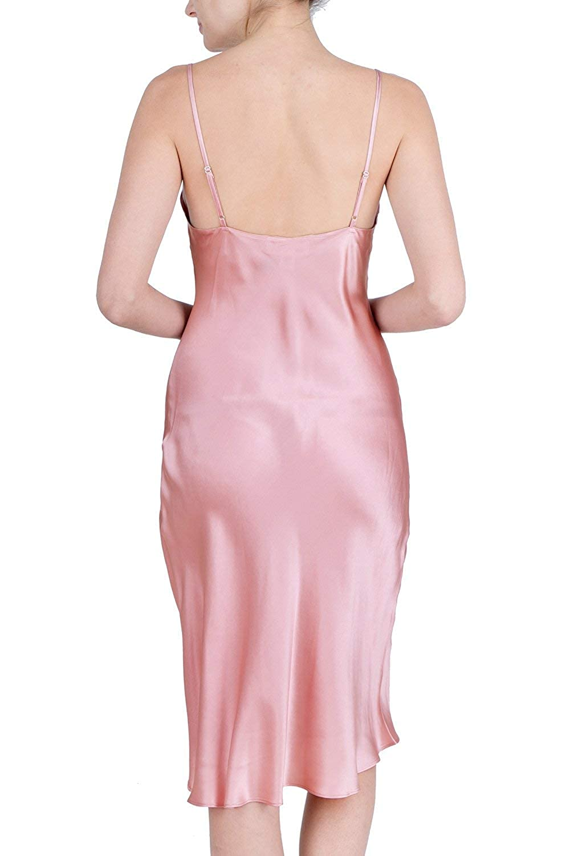 OSCAR ROSSA Womens Luxury Silk Sleepwear 100/% Silk Full Slip Chemise Lingerie Nightgown RS016