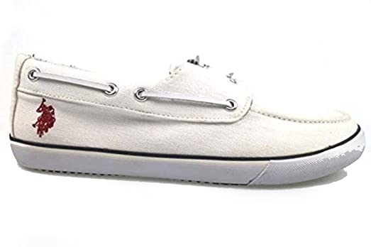 Zapatos Hombre U.S Polo ASSN. Mocasines Blanco Textil AP286 (42 EU) SJzqs5iGyA
