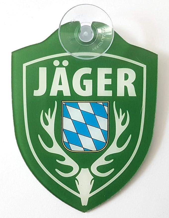 Schilder Einsatzschild Für Windschutzscheibe Inkl Saugnapf JÄger Im Einsatz Bayern Wappen Jäger Bayern Auto