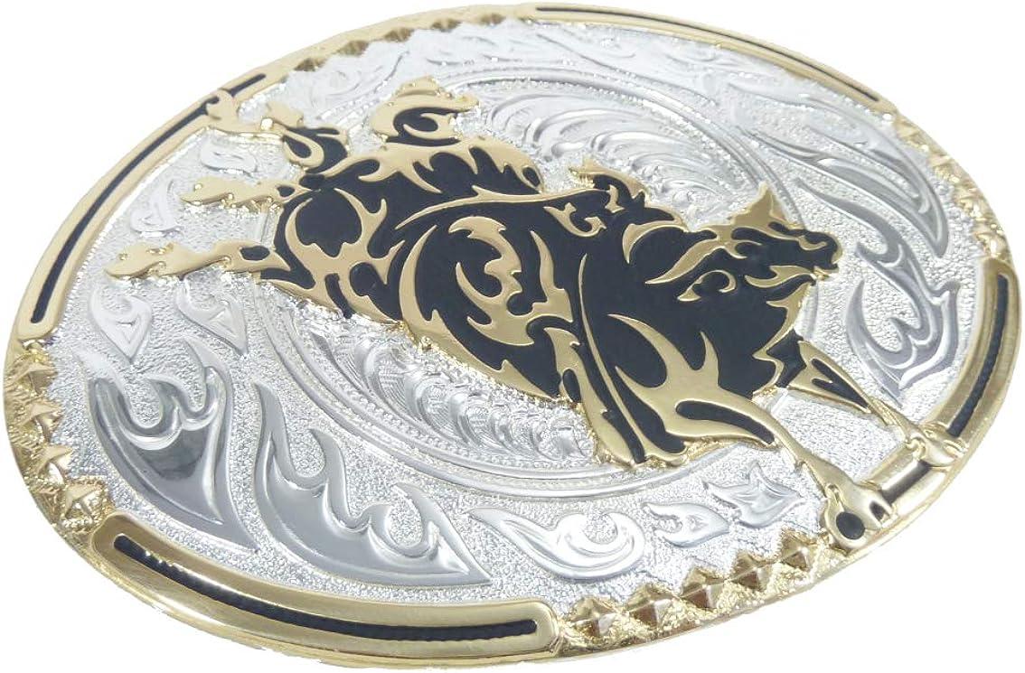 G/ürtelschlie/ße Western Belt Buckle Westerng/ürtelschnalle Vintage unisex Crumrine Western Rodeo Style G/ürtelschnalle black /& gold