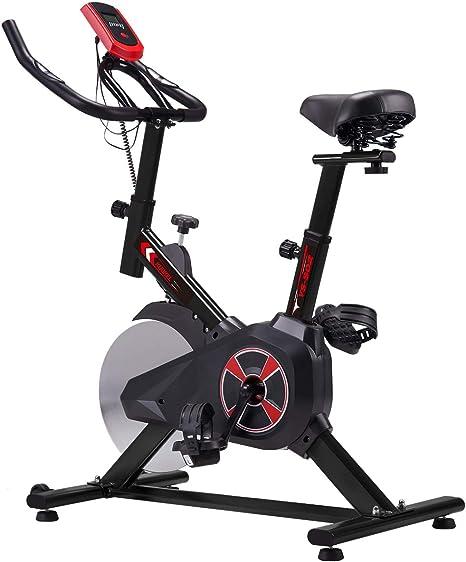 KUOKEL K601 Bicicleta de Spinning Bicicleta estática con Rueda Resistencia Variable Monitor Digital Pantalla LCD Soporte de Agua Asiento y Manillar Ajustables Profesional Uso doméstico (Negro): Amazon.es: Deportes y aire libre