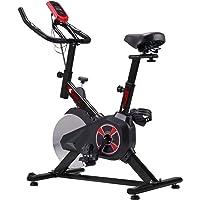 KUOKEL K601 Bicicleta de Spinning Bicicleta estática con Rueda Resistencia Variable Monitor Digital Pantalla LCD Soporte de Agua Asiento y Manillar Ajustables Profesional Uso doméstico
