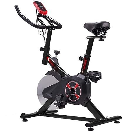 KUOKEL Indoor Cycling Bike Exercise Bike with 22lb Flywheel Adjustable Seat and Resistance, Digital Monitor, ODO, Calories, Heart Rate Sensor, Spining Bike Studio Cycles Exercise Machines