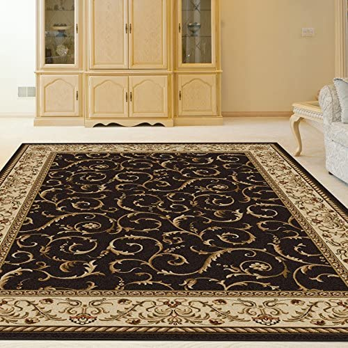 Radici 1599 1523 BROWN 1599 Area Rug, 9 10 x 12 10, Brown
