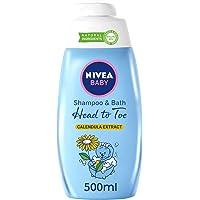 NIVEA Baby Head To Toe Shampoo & Bath, Calendula Extract, 500ml
