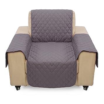 Funda de sofá para mascotas con un asiento impermeable, funda de cojín elástico para sofá, protector para gatos, perros y niños (gris): Amazon.es: Hogar