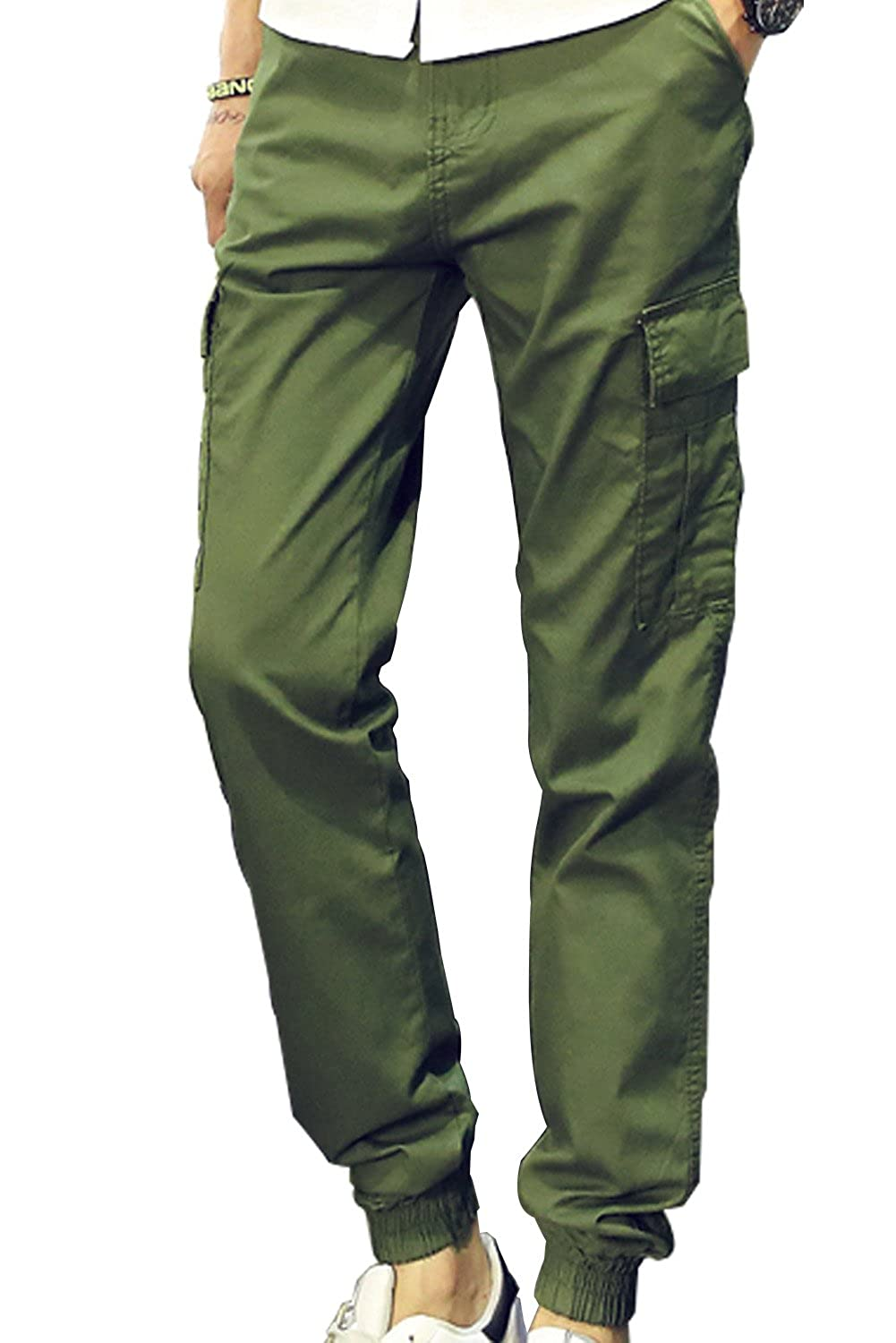 GAGA Mens Cargo Pants Casual Jogger Pant Slim Fit Chino Trousers