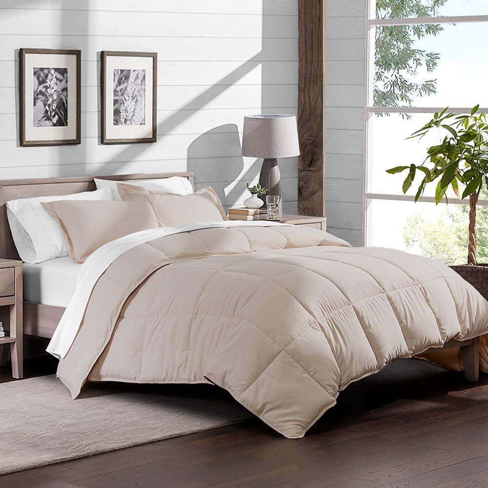 Black Twin Extra Long Down Alternative Comforter Set by Ivy Union