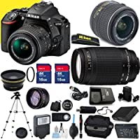 Nikon D5500 Premium Package with 18-55mm VR II Lens & 70-300mm G Lens with Two Memory Cards, Tripod, Case, SD Card Reader, Wide Angle Lens, Telephoto Lens and More - International Version Benefits Review Image