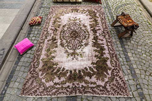 Turkish Medallion Rug, Vintage Turkish Rug 6.69x10.33 ft ( 204x315 cm)