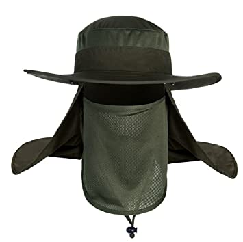 1698d2eca9f Mens Outdoor Legionnaire Hat Camping Fishing Hunting Fully Sun Protection Hat  Cap with Flap Neck Protector