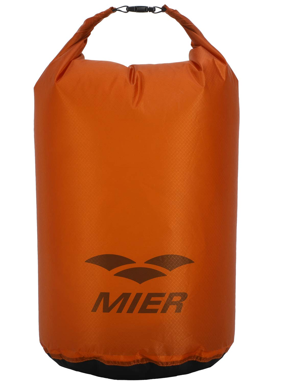 MIER Lightweight Dry Sack Floating Waterproof Nylon Dry Bag with Roll Top for Kayaking, Beach, Rafting, Boating, Swimming, Hiking, Camping and Fishing, 20L, Orange by MIER