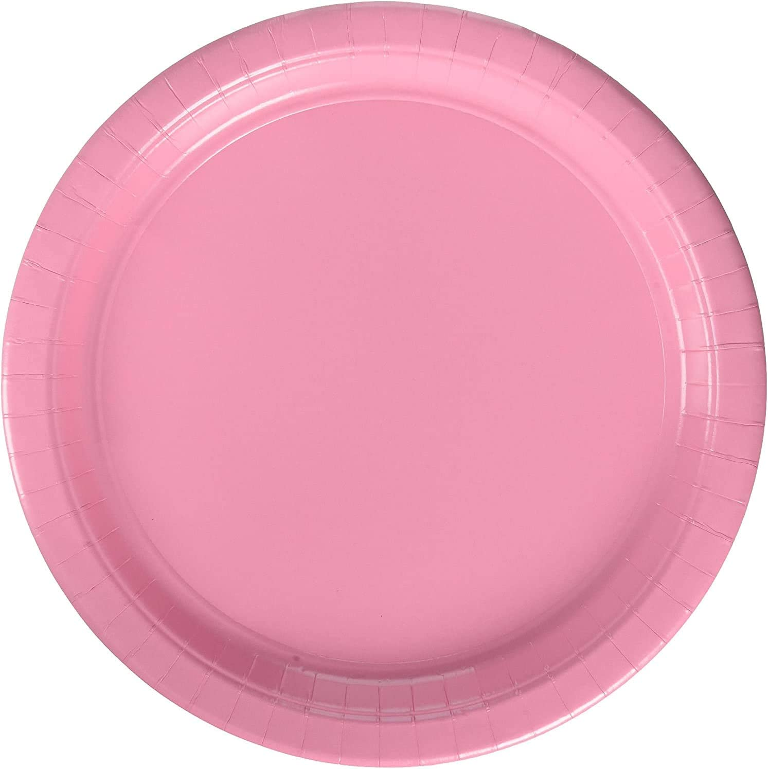 Amscan 650013.109 New Pink Paper Lunch Plates | Big Party Pack | 50ct, 9