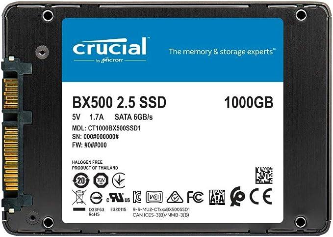 Crucial BX500 CT1000BX500SSD1- Disco Duro Sólido Interno SSD de 1 ...