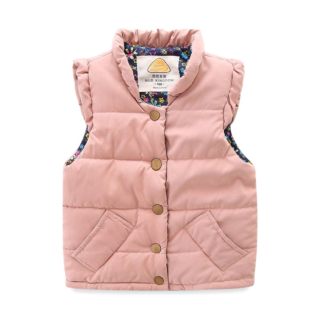 UWESPR Baby Girls Winter Cute Warm Vest Coat Light Weight Cotton Waistcoat Made in China