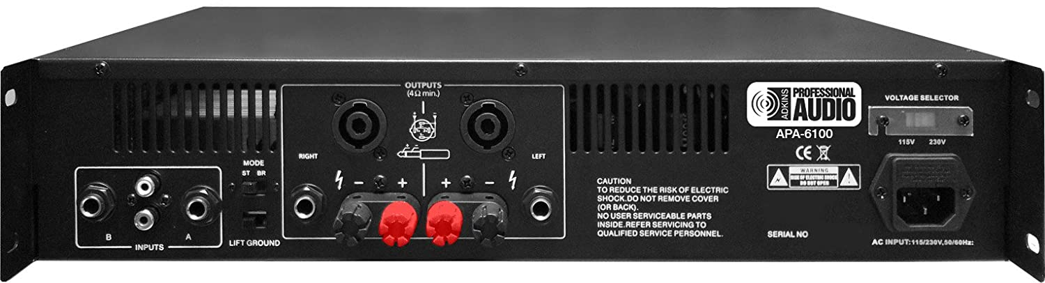 Amazon.com: 6100 Watt Professional DJ Power Amplifier - Adkins Pro Audio - Quality Audio at Aforadable Prices!: Musical Instruments