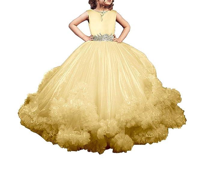 Portsvy Vestido De Baile Para Niñas Diseño De Flores