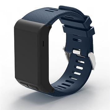 XIHAMA Correa de Reloj para Garmin Vivoactive HR, Correa de Silicona Ajustable de Repuesto para Reloj Inteligente Garmin Vivoactive HR GPS: Amazon.es: ...