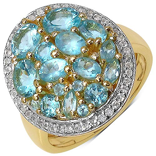 Bonyak Jewelry Genuine Oval Apatite Ring in Sterling Silver - Size 7.00