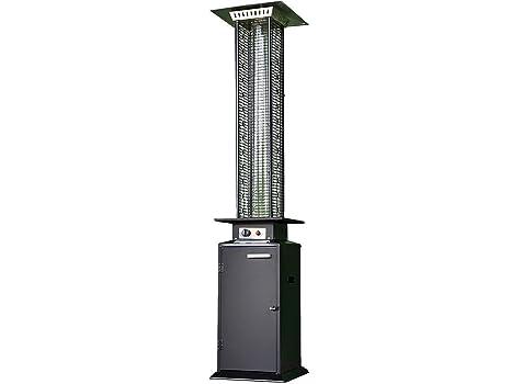 Calefactor para terraza prémium negro, 14kW, estufa de gas con