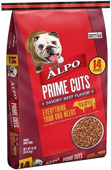 ALPO Prime Cuts Savory Beef Flavor Adult Dog Food 14 lb