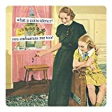 Anne Taintor Square Refrigerator Magnet - What A Coincidence. You Embarrass Me Too