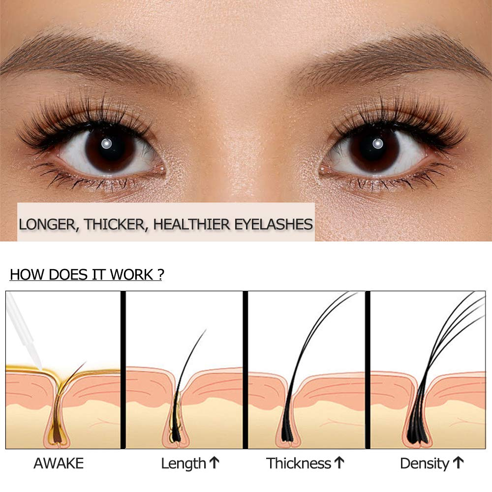 O.TWO.O Eyelash Growth Serum Eyebrow Enhancing Essence for Longer, Thicker, Fuller, Healthier Looking Lashes Brows, 3ml