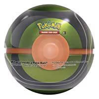Pokémon 2020 Summer Poke Ball Tin Dusk Ball | 3 Booster Packs | Each XY Series Pack Contains 10 Cards | Genuine Cards, Multicolor