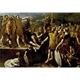 Oil painting 'Lanfranco Giovanni di Stefano Alocucion de un emperador romano Ca. 1638 ' printing on high quality polyster Canvas , 20 x 29 inch / 51 x 74 cm ,the best Living Room decoration and Home artwork and Gifts is this High Definition Art Decorative Canvas Prints
