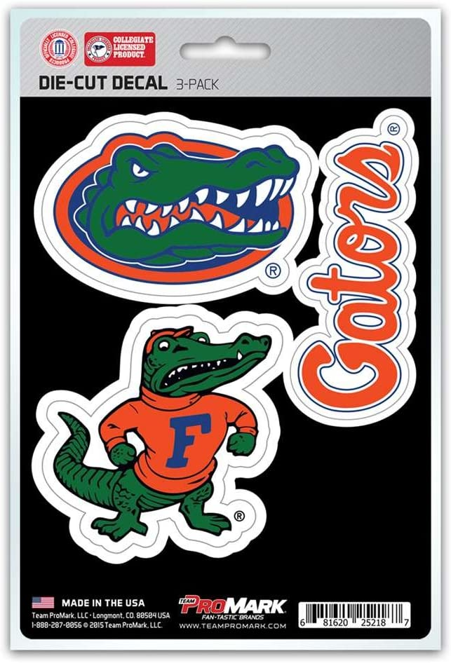 NCAA Florida Gators Team Decal, 3-Pack