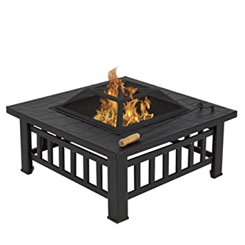 (US Lager) Outdoor 81,3 Cm Metall Feuerstelle Terrasse Garten Herd Fire Pit