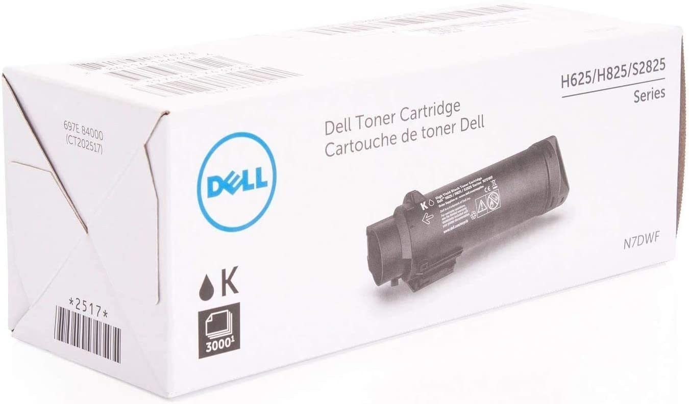 Dell N7DWF S2825/H825/H625 Series High Yield Black Toner Cartridge 3000