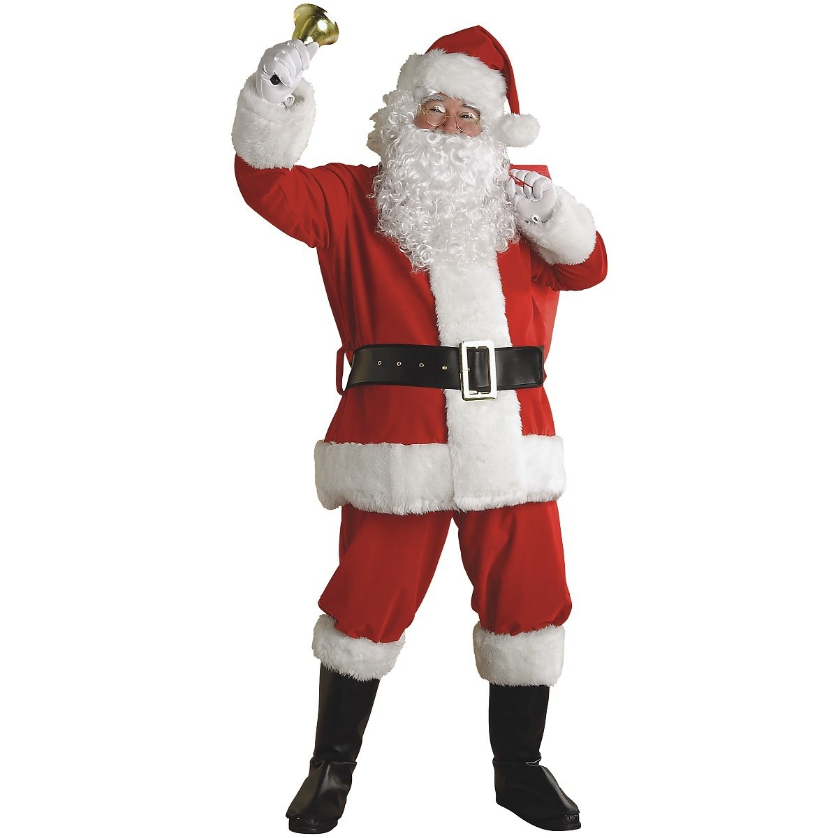 Rubie's Regal Plush Santa Suit with Wig and Beard, Red/White, XX-Large