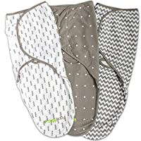Swaddle Blanket, Adjustable Infant Baby Wrap Set by Ziggy Baby, 3 Pack Soft C...