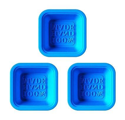 Molde de silicona 100% hecho a mano jabón DIY jabones artesanales moldes reutilizable segura (