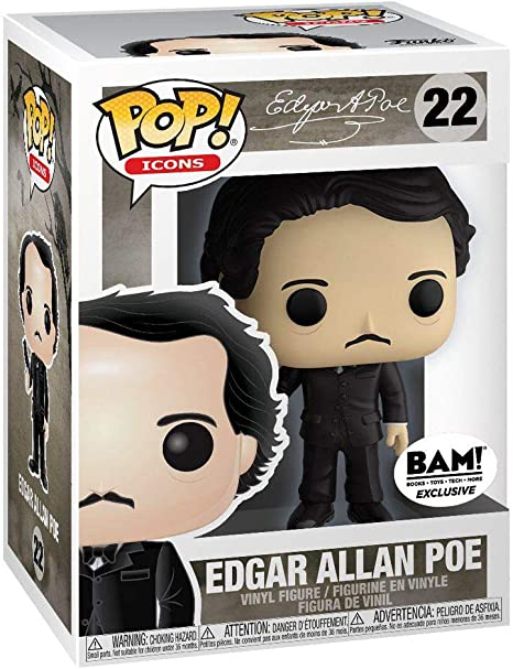 Funko EDGAR ALLAN POE with Raven #22 POP Special Edition Icons Vinyl Figure