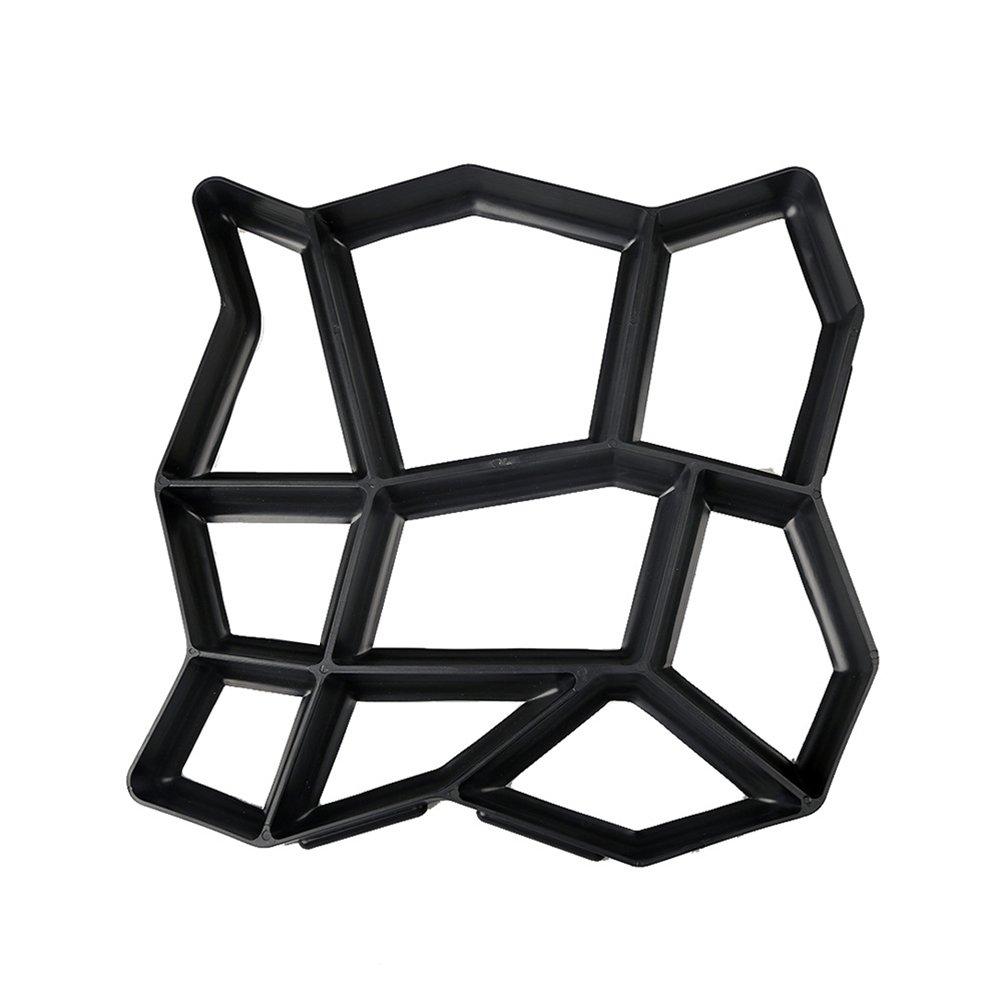 OUNONA Moule en plastique de chemin de bricolage de moule de moule manuellement des moules de brique de ciment pour la décoration de jardin (modèle A)