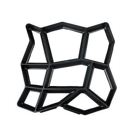 OUNONA Molde plástico del fabricante de la trayectoria de DIY que moldea manualmente moldes del ladrillo
