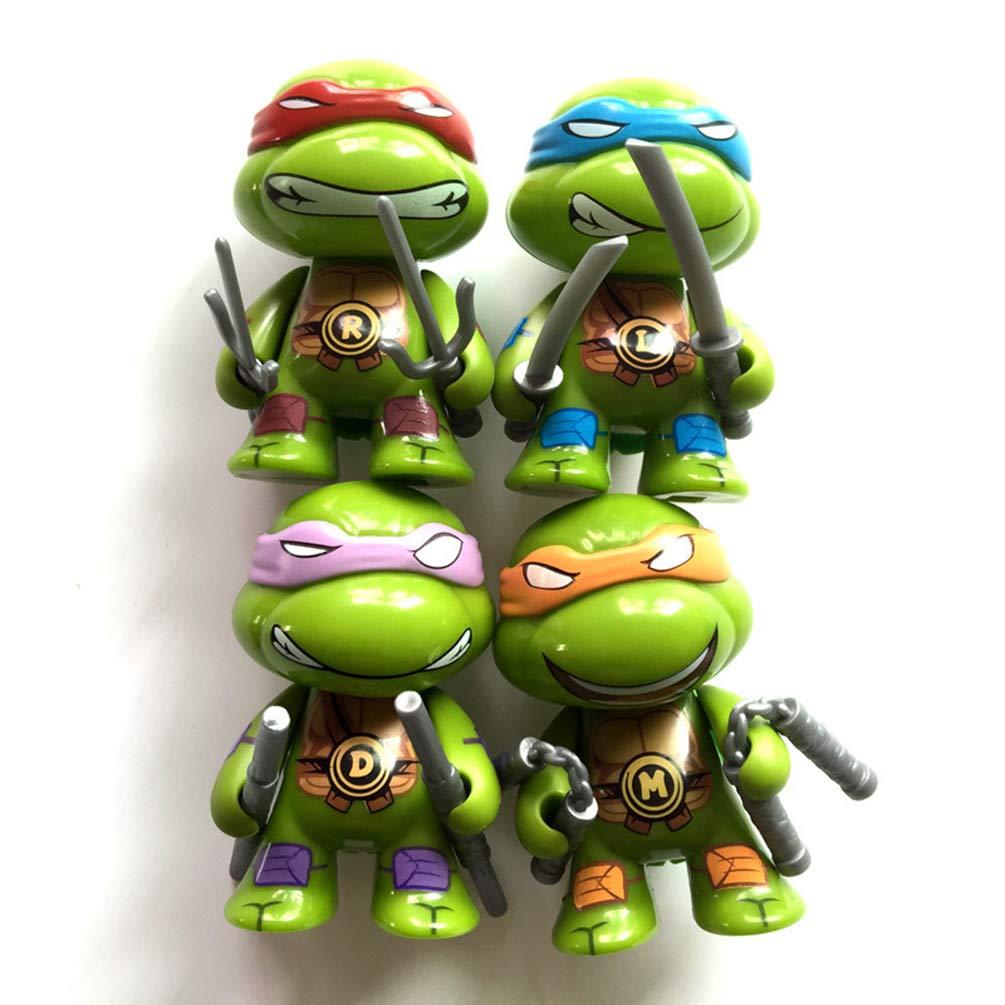 BRANDSALES TMNT Mini Teenage Mutant Ninja Turtles Vinyl Figures Cake Toppers (4 PCS)